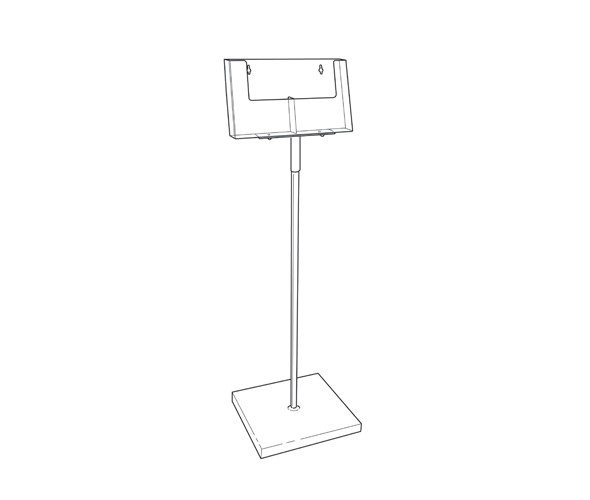 2 Pocket A5 Leaflet Dispenser Floor Standing Product Image