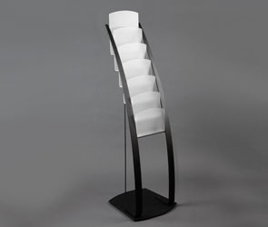 6 Tiered 6 Pocket A4 Floor Standing Leaflet Dispenser Product Image