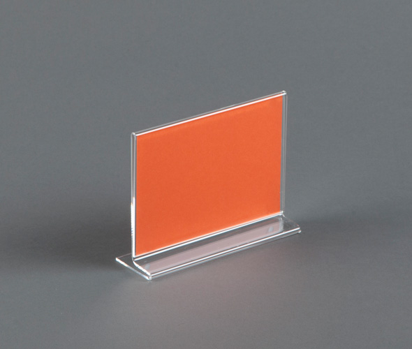 Mini Straight Sign Holder - Acrylic Product Image